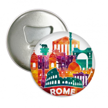 Italy Rome Landscape Customs Landmark Round Bottle Opener Refrigerator Magnet Pins Badge Button Gift 3pcs