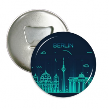 Germany Berlin Landmark Architecture Round Bottle Opener Refrigerator Magnet Pins Badge Button Gift 3pcs