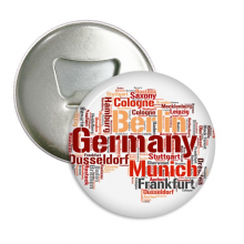 Germany City Name Map Style Pattern Round Bottle Opener Refrigerator Magnet Pins Badge Button Gift 3pcs