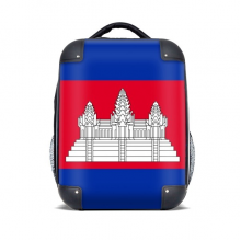 CambodiaNational Flag Asia Country Hard Case Shoulder Carrying Children Backpack Gift 15""