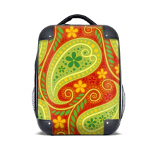 Printing Repeat Cloth Colorful Leaf Art Hard Case Shoulder Carrying Children Backpack Gift 15""