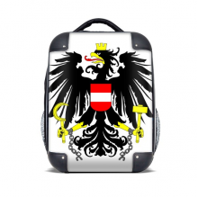 Austria National Emblem Country Hard Case Shoulder Carrying Children Backpack Gift 15""