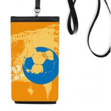 Football Soccer Sports US Faux Leather Smartphone Hanging Purse Black Phone Wallet Gift