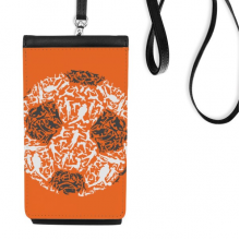 Football soccer Sports People Faux Leather Smartphone Hanging Purse Black Phone Wallet Gift