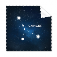Cancer Constellation Zodiac Sign Cleaning Cloth Phone Screen Glasses Cleaner 5pcs