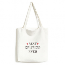 Best girlfriend ever Quote Heart Environmentally Tote Canvas Bag Shopping Handbag Craft Washable
