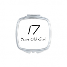 17 Years Old Girl Age Young Square Compact Makeup Pocket Mirror Portable Cute Small Hand Mirrors Gift