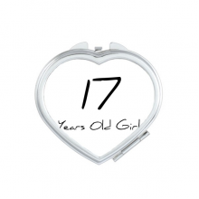 17 Years Old Girl Age Young Heart Compact Makeup Pocket Mirror Portable Cute Small Hand Mirrors Gift