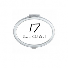 17 Years Old Girl Age Young Oval Compact Makeup Pocket Mirror Portable Cute Small Hand Mirrors Gift
