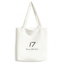 17 Years Old Girl Age Young Canvas Bag Environmentally Tote Large Gift Capacity Shopping Bags
