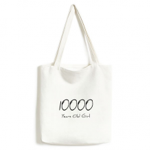 10000 years old Girl Age Canvas Bag Environmentally Tote Large Gift Capacity Shopping Bags