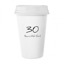 30 years old Girl Age Classic Mug White Pottery Ceramic Cup Gift 350 ml
