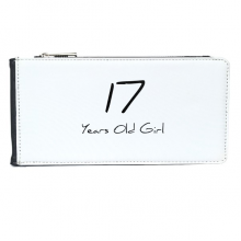 17 Years Old Girl Age Young Multi-Card Faux Leather Rectangle Wallet Card Purse Gift