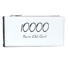 10000 years old Girl Age Multi-Card Faux Leather Rectangle Wallet Card Purse Gift