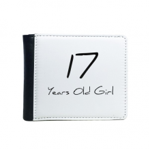 17 Years Old Girl Age Young Flip Bifold Faux Leather Wallet  Multi-Function Card Purse Gift