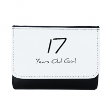 17 Years Old Girl Age Young Multi-Function Faux Leather Wallet Card Purse Gift