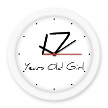 17 Years Old Girl Age Young Silent Non-ticking Round Wall Decorative Clock Battery-operated Clocks Gift Home Decal