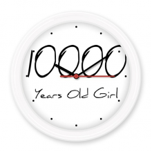 10000 years old Girl Age Silent Non-ticking Round Wall Decorative Clock Battery-operated Clocks Gift Home Decal