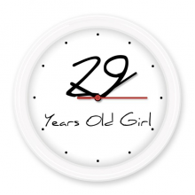 29 years old Girl Age Silent Non-ticking Round Wall Decorative Clock Battery-operated Clocks Gift Home Decal