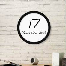 17 Years Old Girl Age Young Round Picture Frame Art Prints of Paintings Home Wall Decal Gift