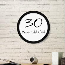 30 years old Girl Age Round Picture Frame Art Prints of Paintings Home Wall Decal Gift