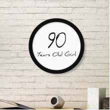 90 years old Girl Age Longevity Round Picture Frame Art Prints of Paintings Home Wall Decal Gift