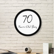70 years old Boy Age Old Round Picture Frame Art Prints of Paintings Home Wall Decal Gift