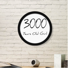 3000 years old Girl Age Round Picture Frame Art Prints of Paintings Home Wall Decal Gift