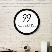 99 years old Boy Age Longevity Round Picture Frame Art Prints of Paintings Home Wall Decal Gift