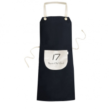 17 Years Old Girl Age Young Cooking Kitchen Black Bib Aprons With Pocket for Women Men Chef Gifts