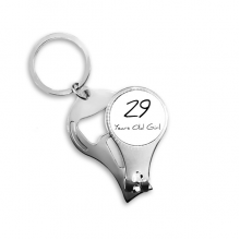 29 years old Girl Age Key Chain Ring Multi-function Nail Clippers Bottle Opener Gift