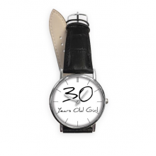 30 years old Girl Age Quartz Analog Wrist Business Casual Watch with Stainless Steel Case Gift