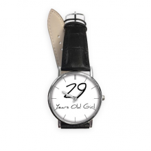 29 years old Girl Age Quartz Analog Wrist Business Casual Watch with Stainless Steel Case Gift
