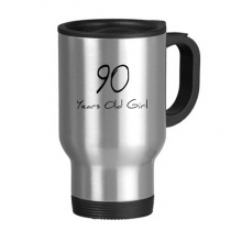 90 years old Girl Age Longevity Stainless Steel Travel Mug Travel Mugs Gifts With Handles 13oz