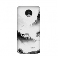 Wash Firewood Mountain Chinese Watercolor Moto Z / Z Force / Z2 Magnetic Mods Custom-made Phonecase DIY Moto Style Shell