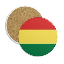 Bolivia Flag Country Symbol Mark Pattern Stone Drink Ceramics Coasters for Mug Cup Gift 2pcs