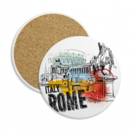 Italy Rome Landscape Roman Theater Stone Drink Ceramics Coasters for Mug Cup Gift 2pcs