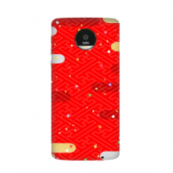 Clouds Geometry Red Pattern Japan Moto Z / Z Force / Z2 Magnetic Mods Custom-made Phonecase DIY Moto Style Shell