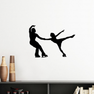 Sports Physical Education Player Skating Silhouette  Removable Wall Sticker Art Decals Mural DIY Wallpaper for Room Decal