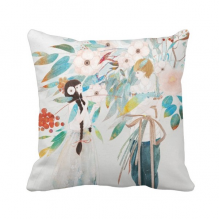 Boygirl Chinese Classical Style Illustrator Polyester Toss Throw Pillow Square Cushion Gift