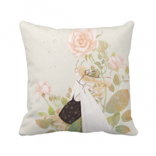 Flower Chinese Classical Style Illustrator Polyester Toss Throw Pillow Square Cushion Gift