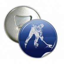 Winter Sport Skating and Ice Hockey Watercolor Round Bottle Opener Refrigerator Magnet Pins Badge Button Gift 3pcs