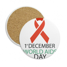 1st December AIDS Day HIV Solidarity Stone Drink Ceramics Coasters for Mug Cup Gift 2pcs