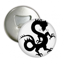 Dragon Silhouette China Chinese Pattern Round Bottle Opener Refrigerator Magnet Pins Badge Button Gift 3pcs