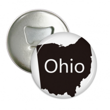 Ohio America USA Map Silhouette Round Bottle Opener Refrigerator Magnet Pins Badge Button Gift 3pcs