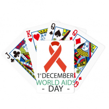 1st December AIDS Day HIV Solidarity Poker Playing Cards Tabletop Game Gift