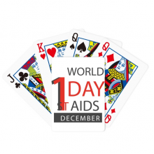 1/12 World AIDS Day HIV  Symbol Poker Playing Cards Tabletop Game Gift