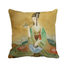 Beauty Chinese Antique Illustrator Polyester Toss Throw Pillow Square Cushion Gift