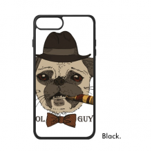 British Style Gentle Smoke Dog and Cigarette For iPhone 8/8 Plus Cases Phonecase Apple Cover Case Gift