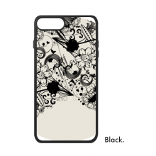 Flower Plants Black White Art Grain Silhouette iPhone 8/8 Plus Cases iPhonecase  iPhone Cover Phone Case Gift